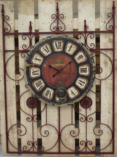 Iron Gates are perfect back drops for clocks and wreaths!