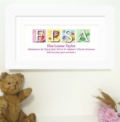 Personalised baby name frame httpbaby gifts personalised baby name frame girl httpbaby gifts negle