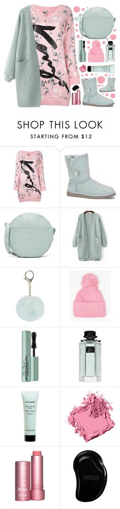 """""""UGG🔝"""" by sanela-enter ❤ liked on Polyvore featuring Kenzo, UGG, BAGGU, Dorothy Perkins, Too Faced Cosmetics, Gucci, Givenchy, Bobbi Brown Cosmetics, Fresh and Tangle Teezer"""