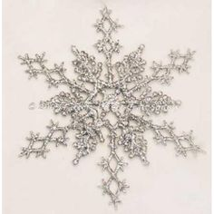 Silver Glitter Snowflake Winter Wedding Favors or Ornaments, 6 Pieces