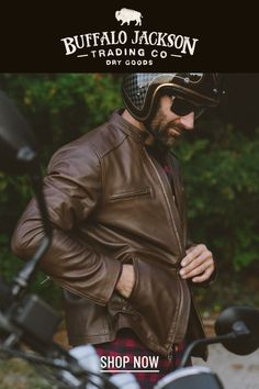 This vintage style brown leather jacket gives any outfit a classic rugged aesthetic. Keep it classy and casual — the more you wear this moto /racer jacket, the better it looks and feels. Great gift for men!