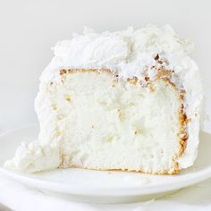 Coconut Angel Food Cake | i am baker ... If you like coconut take a look, there's many recipes using coconut linked here!