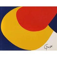 Alexander Calder, Flying Colors 4, Lithograph