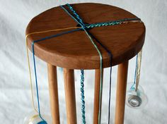 Marudai Kumihimo Loom Stand Made of by WindhavenFiberTools on Etsy