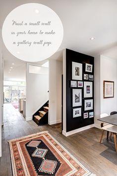 black gallery wall