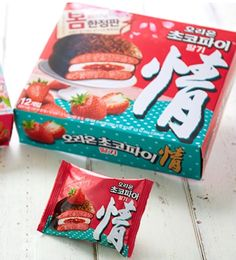 [Orion] Choco Pie Strawberry 12 Packs / 2017 Spring Limited Edition / Korea   #ORION