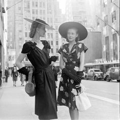 1940s street fashion. I wish I was a part of this era...
