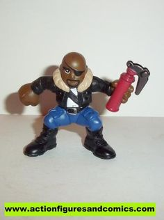 Marvel Super Hero Squad NICK FURY complete red can blue pants pvc action figures