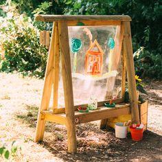 Outdoor Paint, Outdoor Fun, Diy Outdoor Toys, Kids Outdoor Furniture, Kids Outdoor Play, Outdoor Learning Spaces, Bamboo Wind Chimes, Pintura Exterior, Sensory Garden