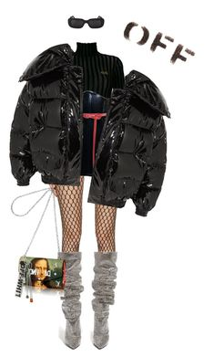 """""""Untitled #143"""" by tyairsallam-1 ❤ liked on Polyvore featuring Wolford, La Perla, GCDS, Oscar de la Renta, Vetements, Off-White and Yves Saint Laurent"""