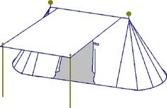Article: Toward a More Period Encampment... Making a Pavilion: Figuring canvas measurements by Ceara ni Neill (deadlink website)