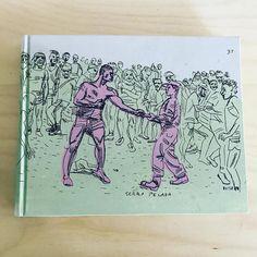 I have been royally spoilt-a sketchbook gift by @conradbotesdotcom.
