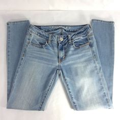 3a7df75f American Eagle Jegging Skinny Jeans Women's 2 Short Super Stretch Light  Wash   eBay American Eagle