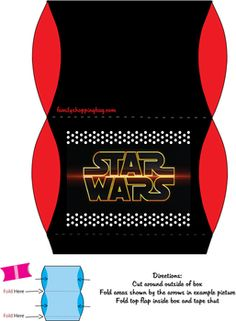FREE PRINTABLE #Star Wars Favor Boxes! May 4th is Star Wars Day
