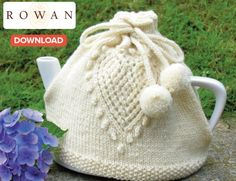 Lovely Rowan Lnitted TeaCozy Pattern (Nupps?) with heart and seed-stitch border.  MUST make this!