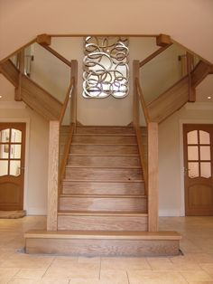 Rustic Home Designs House Staircase, Staircase Remodel, Modern Staircase, Staircase Design, House Extension Design, House Design, Hallway Designs, Rustic Home Design, Interior Stairs