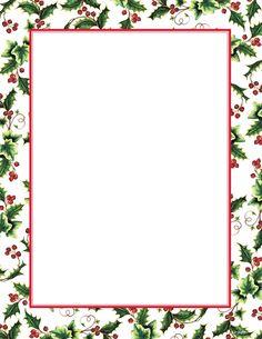 Free Christmas Letter Borders