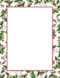 "Free Christmas Letter Borders | Geographics® Holly Ivy Border Christmas Letterhead, 8.5""x11"", 25/PK"