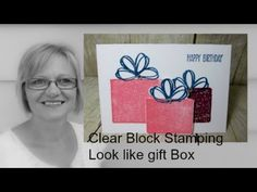 Stamp & Scrap with Frenchie: Clear Blog for Gift Box Card Video