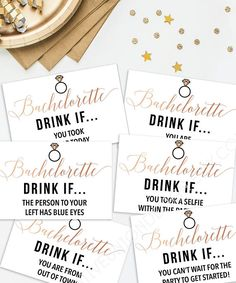 Get the party started with this fun Drink if game. Gather everyone and begin reading these hilarious cards. These are a great way to get everyone ready for then night ahead! • • • • • HOW IT WORKS • • • • • 1. Download the PDF 2. Print at home on card stock (as many as you