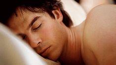 #Damon. Handsome even when he sleeps