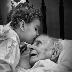 touching, one can feel the love between the generations