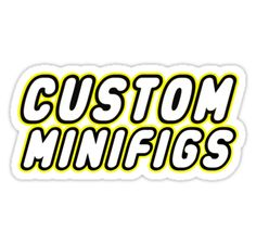 """""""CUSTOM MINIFIGS by Customize My Minifig"""" Stickers by ChilleeW 