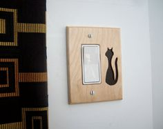 Switchplate Black Cat for Rocker or GFI Outlet