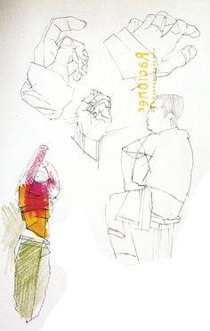 sketch (always very enlightening) croquis (toujours très instructif) #man #hands