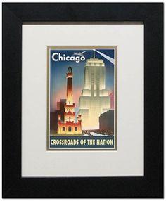 vintage chicago tourism poster