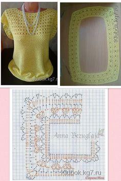 Blusa de Croche com gráfico