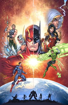 Justice League Sample COLOR by vmarion07