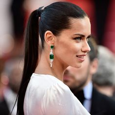 The Ponytail Is Officially the Hairstyle of Cannes 2016: Adriana Lima | allure.com