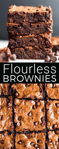 This Easy, Healthy & Fudgy Flourless Brownies recipe is made with 8 ingredients and ready in 25 minutes! They are truly the best gluten-free brownies ever and are also paleo & dairy-free! #brownies #flourlessbrownies #paleobrownies #paleo #glutenfree #dairyfree #dessert