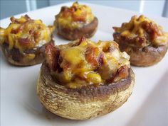"""Make-Ahead Bacon & Cheddar-Stuffed Mushrooms: """"I use this a lot for parties! I've even just saved some bacon grease and fried up the onion in the grease instead of the butter."""" -SweetsLady"""