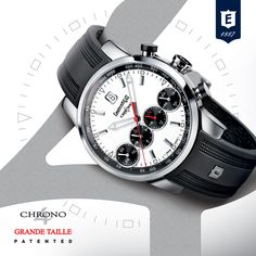 Chrono^4 Grande Taille by Eberhard & Co. #chrono4grandetaille #4countersinline #patented #registereddesign #revolutionarychronograph #chrono4 #icon #chronograph #eberhard #eberhardwatches #eberhard_co www.eberhard-co-watches.ch
