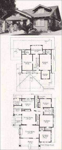 Ideas house plans craftsman bungalow bathroom for 2019 Bungalow Homes, Bungalow House Plans, Craftsman Style Homes, Craftsman Bungalows, Craftsman House Plans, House Floor Plans, Best House Plans, Small House Plans, Sleeping Porch