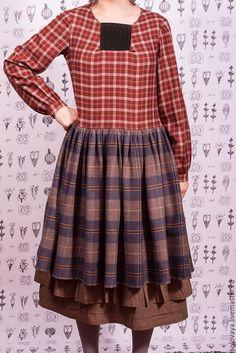 Woollen boho dress / Oksana Solovaya  https://www.etsy.com/shop/SomDress