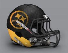 Pittsburgh Steelers - NFL Concept Helmet by Paul Bunyan Design Pittsburgh Steelers Helmet, Cool Football Helmets, Football Helmet Design, Pittsburgh Steelers Football, Pittsburgh Sports, Football Gear, Football Stuff, Football Memes, Football Things