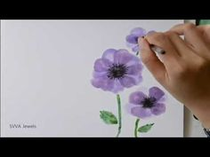How to Paint an Anemone Flower with Watercolor - YouTube