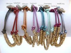 Ethiopian Trade beads with Leather Cord door anaosgoodjewelry, $22.00