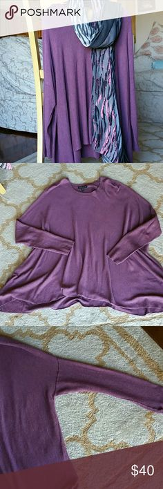 Eileen Fisher Sweater Oversized, dropped shoulder, wide hem, very soft and comfy. Only worn 2 times, in excellent condition. Eileen Fisher Sweaters Crew & Scoop Necks