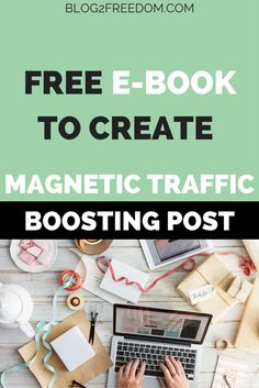 Not getting enough traffic? Check out this free guide to create a magnetic post that draws your readers in.