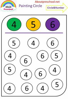 Worksheets 842947255241979475 - Fun circle painting numbers – preschool Source by Printable Preschool Worksheets, Kindergarten Math Worksheets, Worksheets For Kids, Daycare Curriculum, Alphabet Worksheets, Preschool Writing, Numbers Preschool, Preschool Learning Activities, Vocabulary Activities
