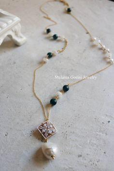 AZULEJOS Necklace-vermeil necklace with by MelaniaGoriniJewelry