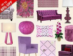 Goodbye Emerald, hello Radiant Orchid! Spruce up your space with vibrant accents in Pantone's new Color of the Year. Bold tufted sofas and upholstered chairs make a stylish statement when paired with cream, gray, or silver furniture. And patterned pillows and rugs make it easy to add a pop of purple without the commitment.