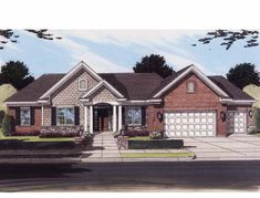Eplans Contemporary-Modern House Plan - Fourth Bedroom Creates a Guest Suite - 2253 Square Feet and 4 Bedrooms(s) from Eplans - House Plan Code HWEPL12834