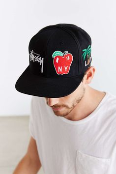a48376012b6 Stussy World Tour Icons Snapback Hat