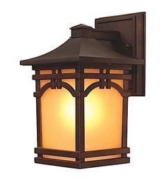 """Artcraft Lighting AC8051OB Courtyard Small Outdoor Wall Mount, Oil-Rubbed Bronze by Artcraft. $92.55. From the Manufacturer                Courtyard small lantern-down. Outdoor wall mount with amber seeded glass in Oil Rubbed Bronze finish. For over 50 years, ARTCRAFT has earned a reputation for excellence in home lighting products that is the envy of many companies in North America. ARTCRAFT is a """"family"""" owned business with many talented and skilled individuals..."""