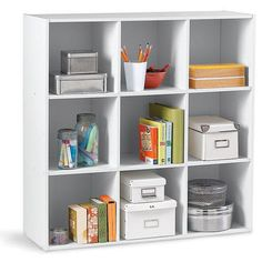 Stackable 9-Cube Organizer Classic White Finish Back To School Deals, Canada Shopping, Cube Organizer, Classic White, Online Furniture, Mattress, Bookcase, It Is Finished, Shelves